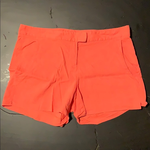 Theory Pants - Theory Orange Linen Shorts